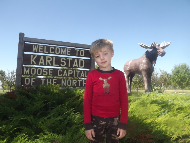 The moose pajamas are purely coincidental.